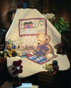 Dimensions Stamped Cross Stitch Quilt Kit Old Teddies