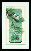Dimensions Stamped Cross Stitch Kit Chickadees on a Branch
