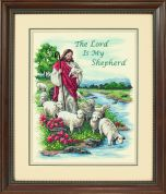 Dimensions Stamped Cross Stitch Kit The Lord is My Shepherd