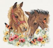 Dimensions Stamped Cross Stitch Kit Horse Friends