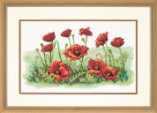 Dimensions Stamped Cross Stitch Kit Field of Poppies