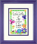 Dimensions Crewel Embroidery Kit Live Life