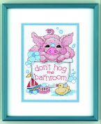 Dimensions Stamped Cross Stitch Kit Bathtime Piglet