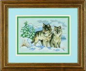 Dimensions Counted Cross Stitch Kit A Pair of Wolves
