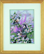 Dimensions Counted Cross Stitch Petite Kit Chickadees in Spring