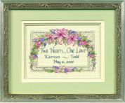 Dimensions Counted Cross Stitch Kit One Love Wedding Record