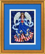 Dimensions Counted Cross Stitch Petite Kit Patriotic Angel