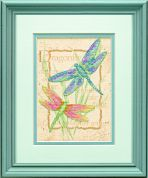 Dimensions Stamped Cross Stitch Kit Dragonfly Dance