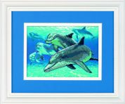 Dimensions No Count Cross Stitch Kit Deep Sea Dolphins