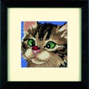 Dimensions Needlepoint Kit Cross Eyed Kitty