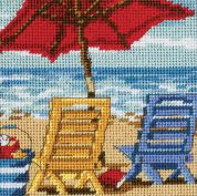 Dimensions Needlepoint Kit Beach Chair Duo
