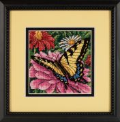 Dimensions Needlepoint Kit Butterfly on Zinnia