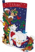 Dimensions Feltworks Stitching Kit Stocking, Winter Snooze