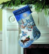 Dimensions Cross Stitch Kit Stocking, Sleigh Ride At Dusk