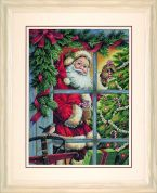 Dimensions Cross Stitch Kit Candy Cane Santa