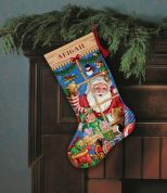 Dimensions Cross Stitch Kit Santa's Toy