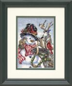 Dimensions Counted Cross Stitch Petite Kit Snowman & Reindeer