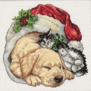 Dimensions Counted Cross Stitch Petite Kit Christmas Morning Pets