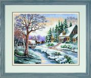 Sunset Counted Cross Stitch Kit Winter Outing