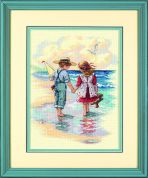 Sunset Counted Cross Stitch Kit Holding Hands