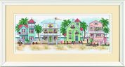 Sunset Counted Cross Stitch Kit Seaside Cottages