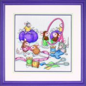 Sunset House Mouse Cross Stitch Kit Sew Busy