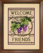 Sunset Counted Cross Stitch Kit Welcome Friends