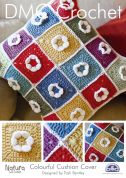 DMC Home Colourful Cushion Cover Natura Crochet Pattern  4 Ply