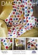 DMC Home Colourful Throw Natura Crochet Pattern  4 Ply