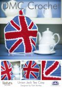 DMC Home Union Jack Tea Cosy Natura Crochet Pattern  4 Ply