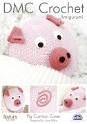DMC Home Pig Cushion Cover Natura Crochet Pattern  4 Ply
