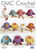 DMC Family of Chicks Toys Natura Crochet Pattern  4 Ply