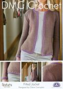DMC Ladies Fitted Jacket Natura Crochet Pattern  4 Ply