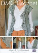 DMC Ladies Waterfall Front Waistcoat Petra Crochet Pattern