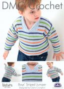 DMC Boys Striped Jumper Natura Crochet Pattern  4 Ply