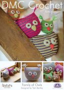 DMC Family of Owls Toys Natura Crochet Pattern  4 Ply