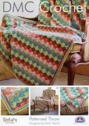 DMC Home Patterned Throw Natura Crochet Pattern  4 Ply