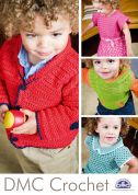 DMC Crochet Pattern Booklet Childrens Clothing