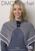 DMC Ladies Cape Natura Crochet Pattern  4 Ply