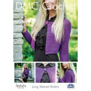 DMC Ladies Long Sleeved Bolero Crochet Pattern  4 Ply