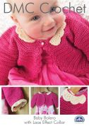 DMC Baby Bolero With Lace Effect Collar Petra Crochet Pattern