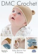 DMC Baby Beanie Hat & Bootees Natura Crochet Pattern  4 Ply