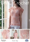 DMC Ladies Tunic Top Natura Crochet Pattern  4 Ply