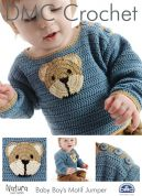 DMC Baby Motif Sweater Natura Crochet Pattern  4 Ply