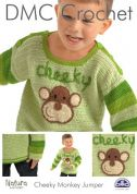 DMC Boys Cheeky Monkey Jumper Crochet Pattern  4 Ply
