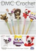 DMC Woodland Animal Finger Puppets Toys Amigurumi Natura Crochet Pattern  4 Ply
