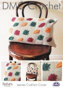 DMC Home Leaves Cushion Cover Crochet Pattern  4 Ply