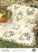DMC Lace Effect Throw Natura Crochet Pattern  Super Chunky