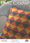 DMC Geometric Cushion Cover Natura Crochet Pattern  Super Chunky