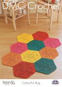 DMC Colourful Rug Natura Crochet Pattern  Super Chunky